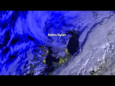 Met Office image of Storm Dylan Storm Dylan hits ahead of Hogmanay - BBC...