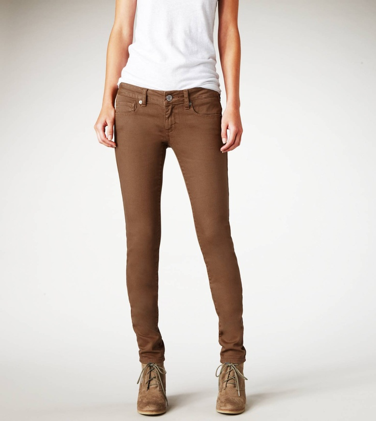 Images of Brown Skinny Jeans Womens - Reikian