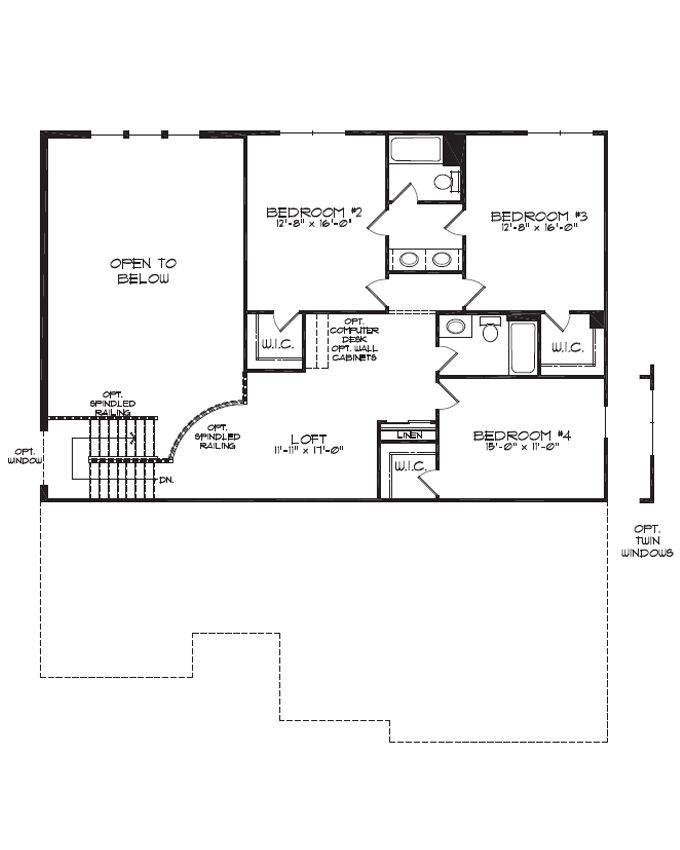 Dimensions for jack and jill bathrooms first floor plan for Second floor design plans