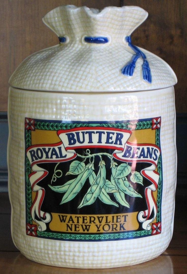 Royal Butter Beans Watervliet New York Canister Sugar