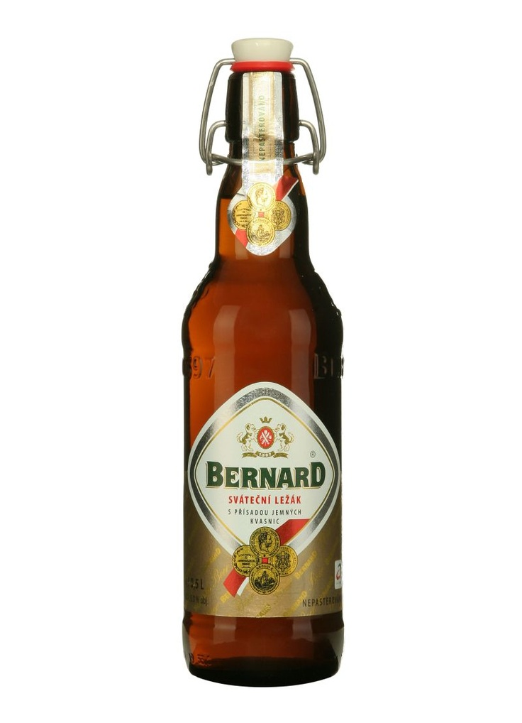 Bernard Pivo: It's a traditional unpasteurised beer which is unique in its harmony of fullness and bitterness, rich foam, sparkling transparency and striking flavour.