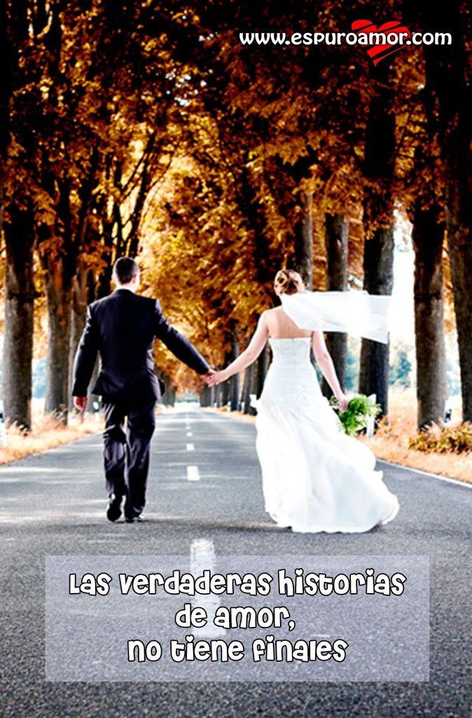 Frase de amor con una pareja de recién casados que cree que el amor no tiene final - http://espuroamor.com/2014/03/frase-de-amor-con-una-pareja-de-recien-casados-que-cree-que-el-amor-no-tiene-final.html #Frasesromanticas, #Imagenesdeamor, #Imagenesdeparejas