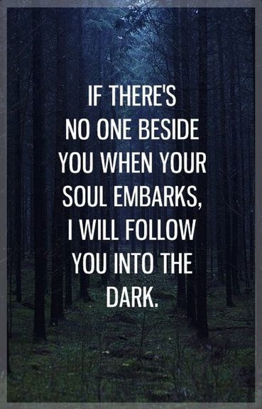 I will follow you into the dark..