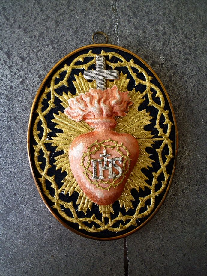 【楽天市場】アンティークIHSホーリーオブジェ イエズスの聖心 A:バラエティー ランド