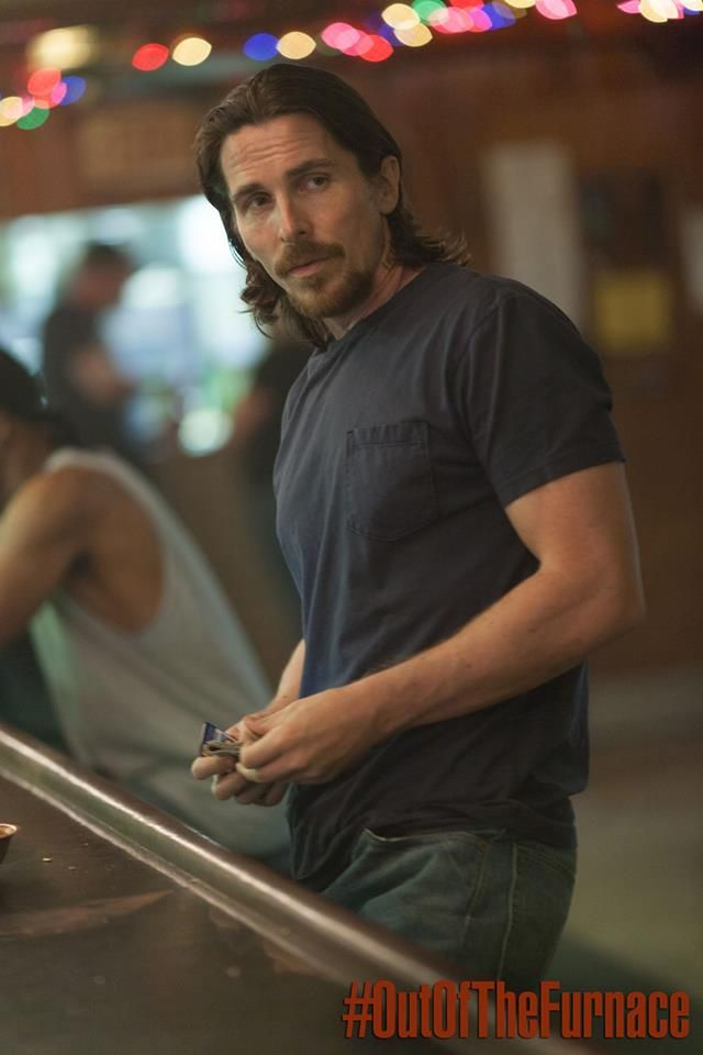 New Christian Bale Pic From 'Out Of The Furnace'. 2013.