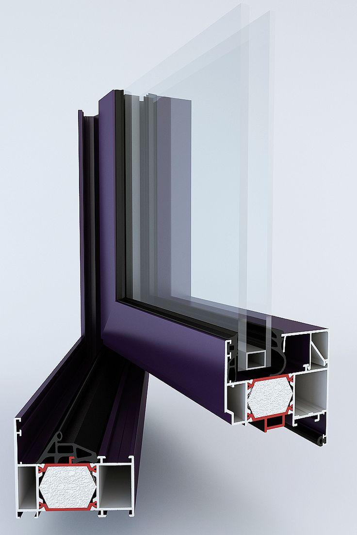 Hliníkové okno systém TM 74