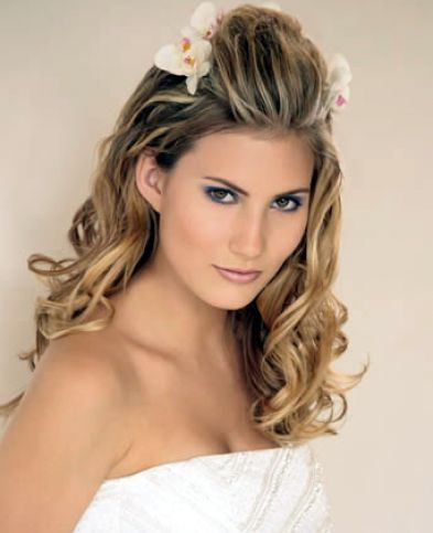 wedding hairstyles for long hair | Bridal hair styles for long hair pictures 3