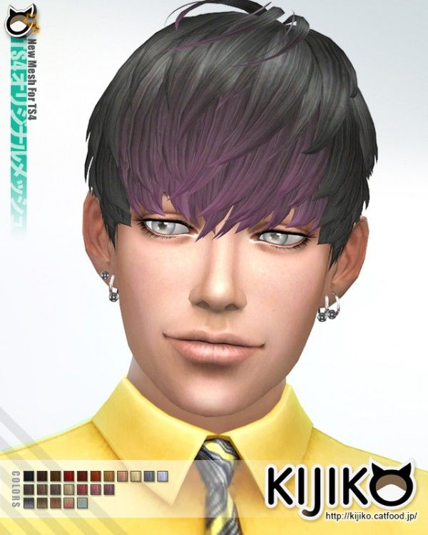 Kijiko: Short Hair With Heavy Bangs • Sims 4 Downloads