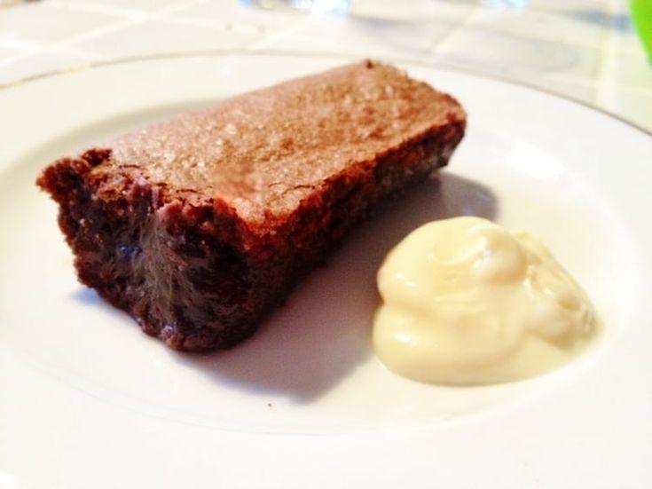 Moelleux au chocolat et poudre d'amandes