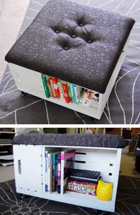 17 best ideas about small storage ottoman on pinterest