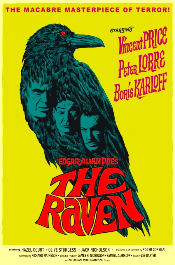 Jack Nicholson - Movie poster n°7 (1963) - Le Corbeau (The Raven) de Roger Corman