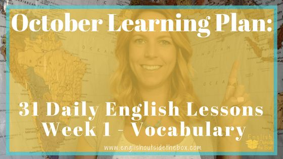 Learn English Online with English Outside the box 31 Daily Lessons to Improve English Vocabulary Fluency