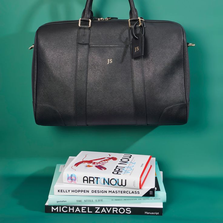 The Daily Edited personalised leather duffel bag. A perfect travel companion.