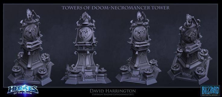 Heroes Of The Storm - Towers Of Doom Gravekeeper Tower, David Harrington on ArtStation at https://www.artstation.com/artwork/LZRkr