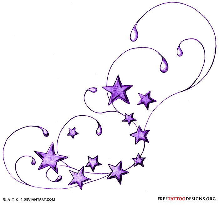 Star Tattoos | Shooting Stars and Nautical Star Tattoo Designs