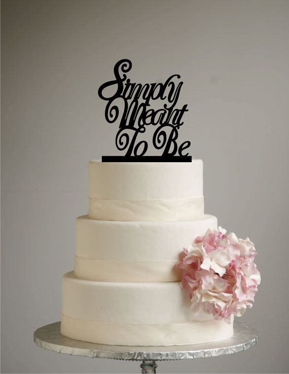 Simply Meant to Be Cake Topper Nightmare by SugarBeeEtching