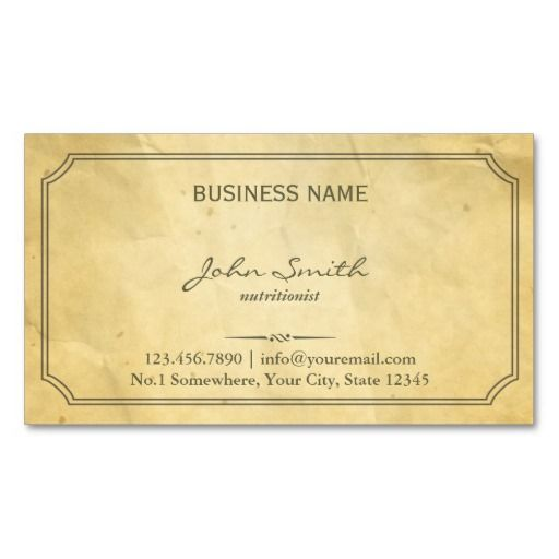 258 best dietitian business cards images on pinterest