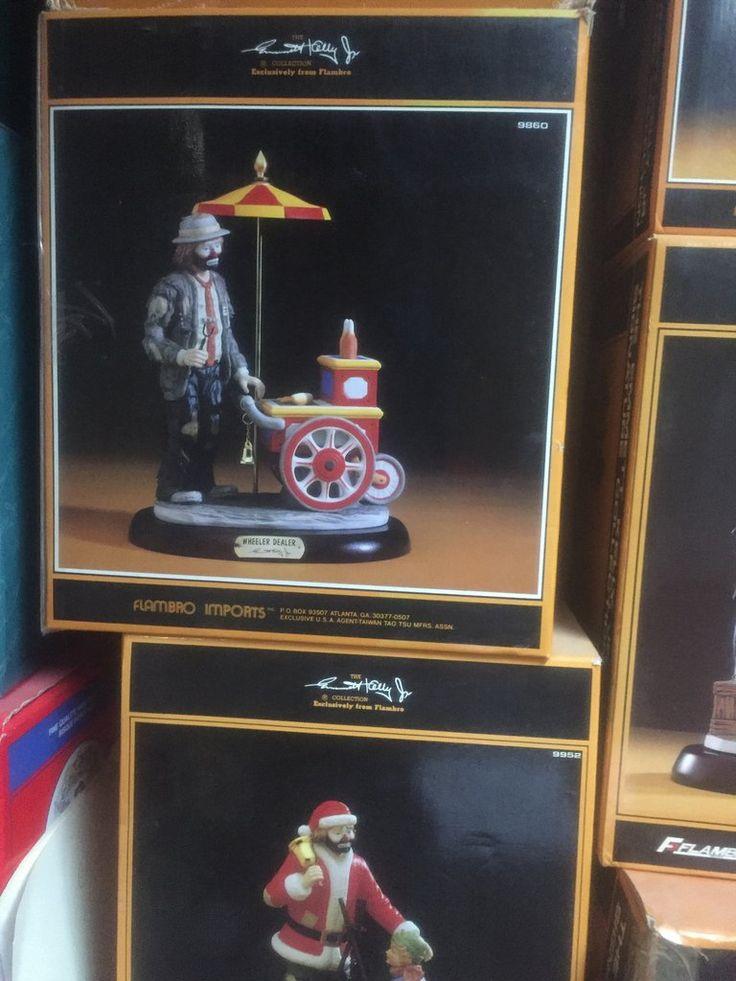 The Emmett Kelly Jr Signature Collection Clown figurine lot