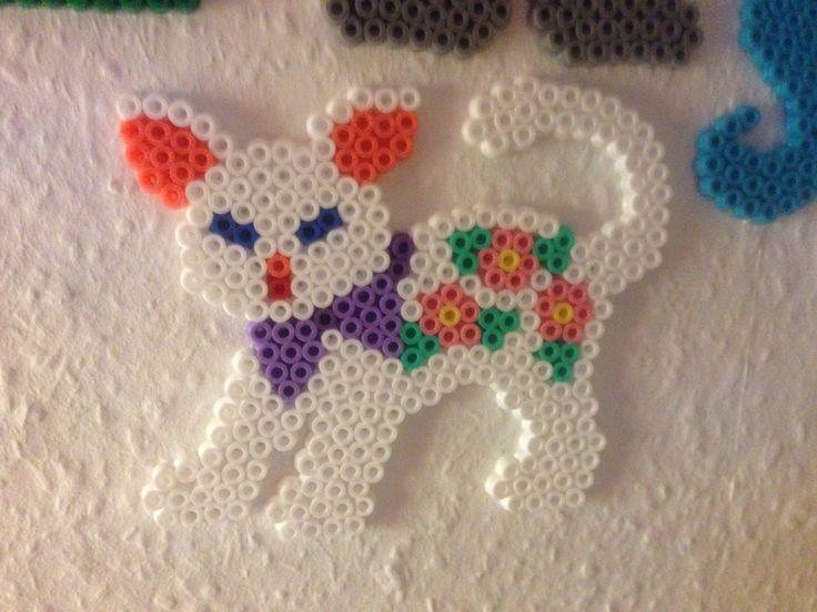 Kat - dyr - hama beads - hama perler