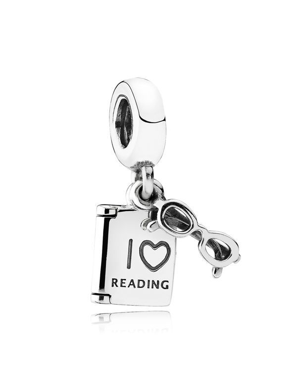 """Pandora Charm - Sterling Silver Love Reading, Moments Collection 