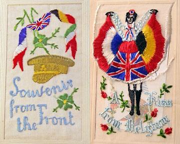 WW I embroidered postcard