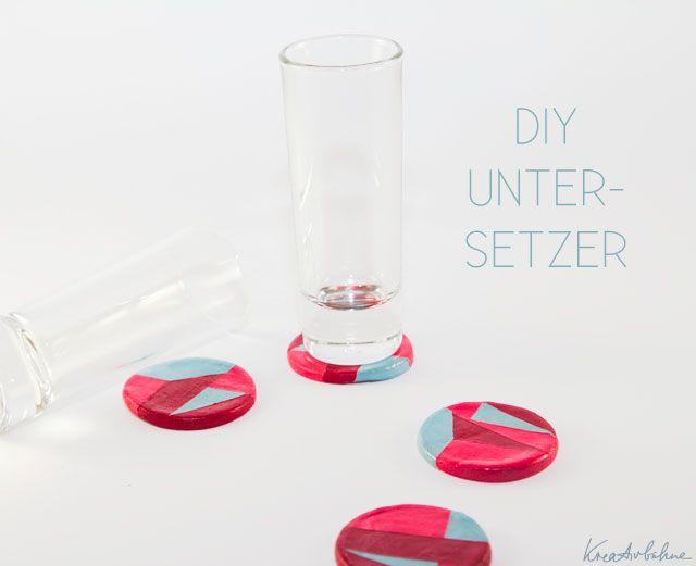 DIY Untersetzer fuer Glaeser