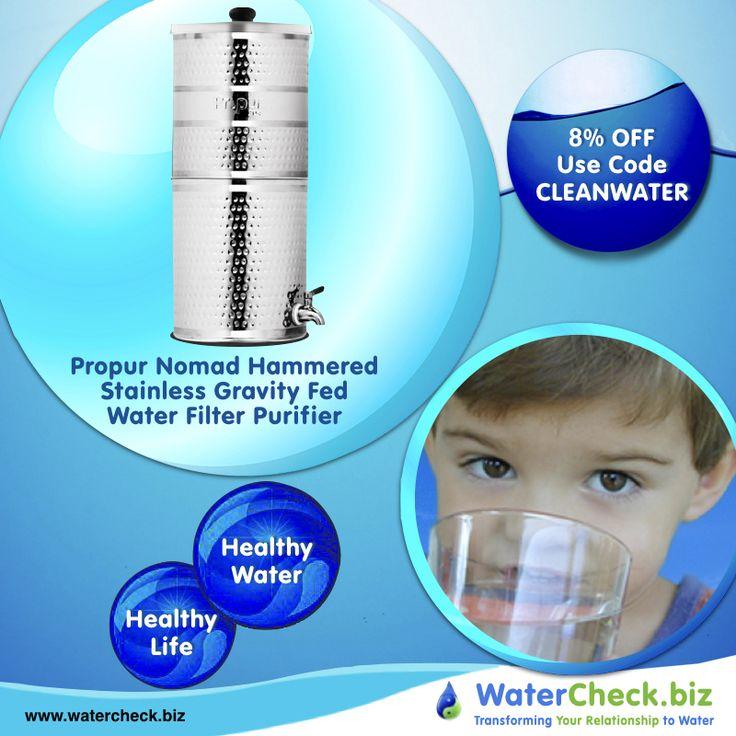Propur Big Hammered Stainless Gravity Fed Fluoride Water Filter Purifier filter technology removes  foul tastes.  https://www.watercheck.biz/products/propur-big-hammered-stainless-gravity-fed-fluoride-water-filter-purifier-with-2-7-inch-proone-g2-0-filter?utm_content=buffer2a195&utm_medium=social&utm_source=pinterest.com&utm_campaign=buffer