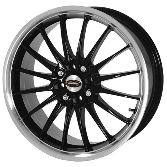 TEAM DYNAMICS JET BLACK alloy wheels with stunning look for 5 studd wheels in BLACK finish with 17 inch rim size