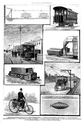 1890.-  (INVENTOS  DE)  TRACCIÓN  ELÉCTRICA.-  SUBMARINO  DEFENSIVO  DE  POINT-DU-JOUR