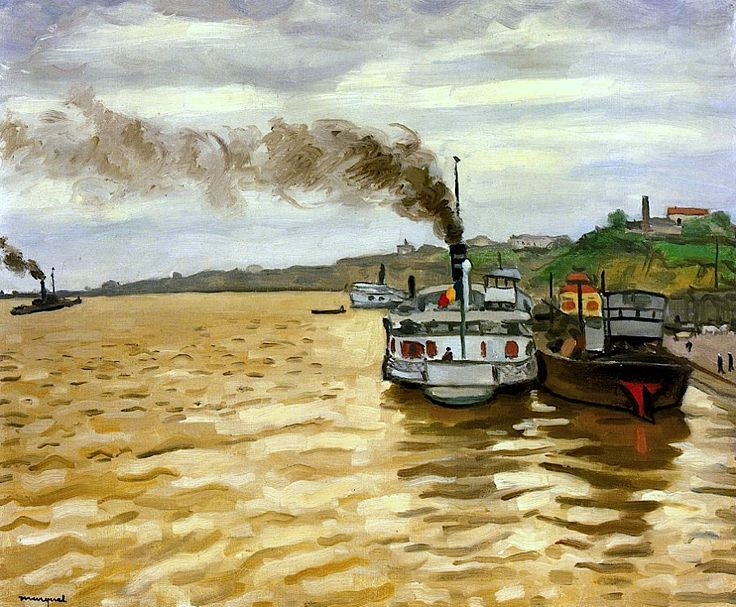 """The Departure of the Courrier at Galatz"", Albert Marquet - 1933"