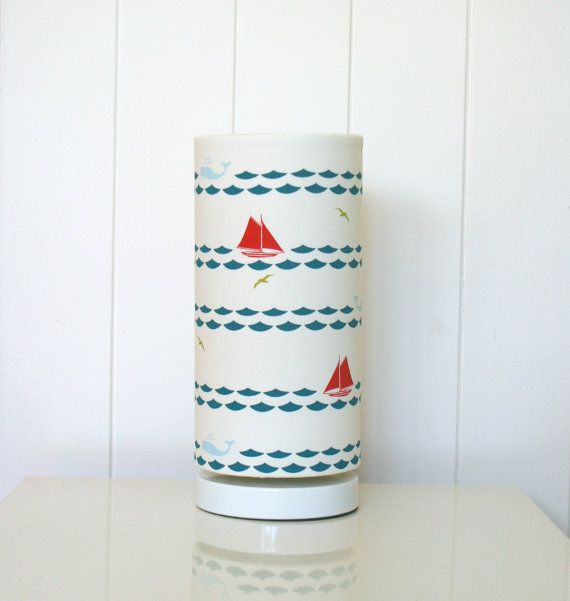 Sailing boats marine fabric lampshade table lamp by MadeInFabric, $52.00