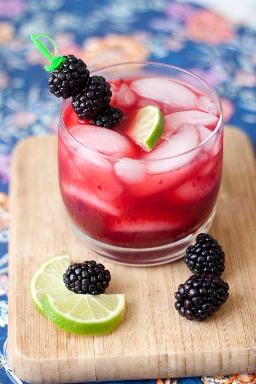 Blackberry Margaritas by tideandthyme (for virgins just use orange juice instead of liqueur)