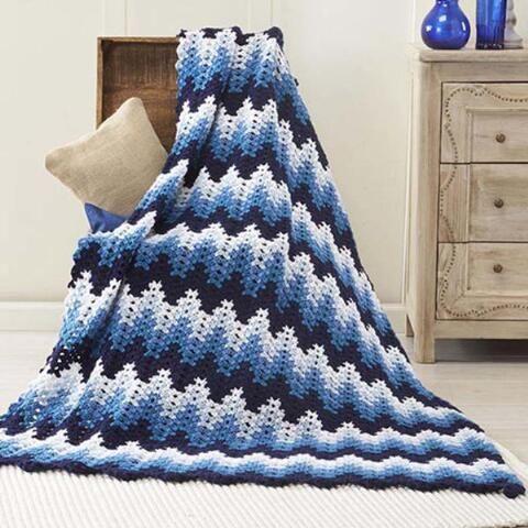 Nightshade Ripple Blanket - Free Crochet Pattern Download