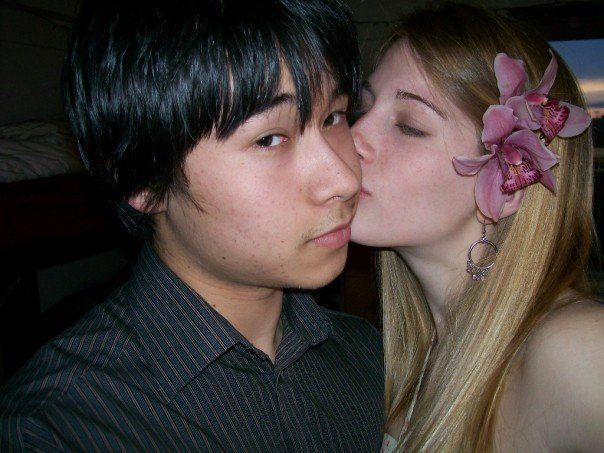 White girl dating asian man