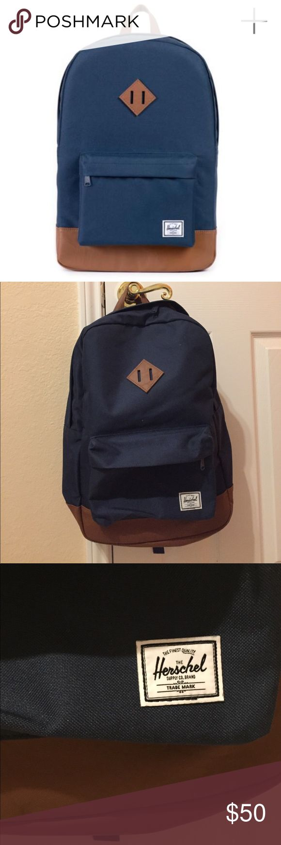 New Herschel Heritage Backpack New Herschel navy blue Heritage backpack. Never worn but no tags. No trades, sorry! Make me an offer! 😊 Herschel Supply Company Bags Backpacks