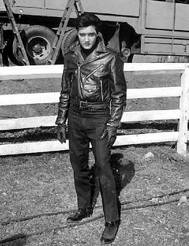 Elvis between take on the Roustabout set in spring 1964.