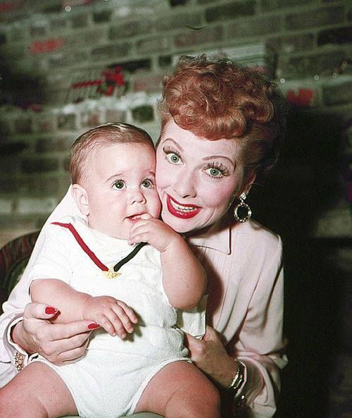Lucille Ball with son Desi Jr. - 53.9KB
