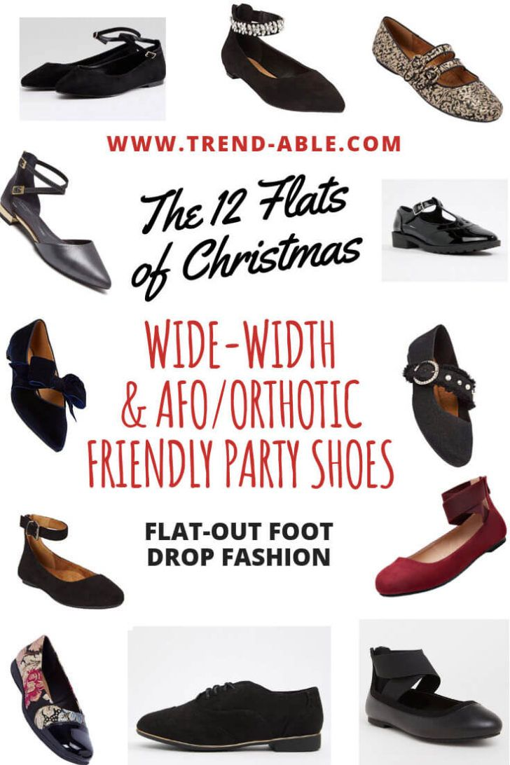 Wide Width Dress Flats For Orthotic