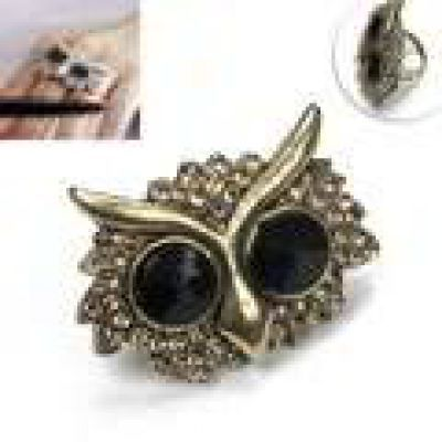 Retro Owl Diamond Ring General. Small and catchy. REPIN if you like it.😍 Only 36.5 IDR