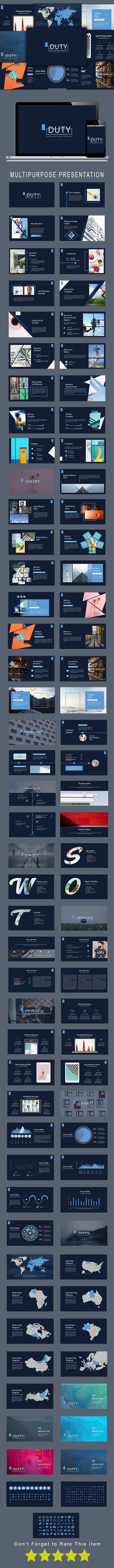 Duty Multipurpose #Powerpoint Template - #Presentation #Templates Download here: https://graphicriver.net/item/duty-multipurpose-powerpoint-template/19504996?ref=alena994