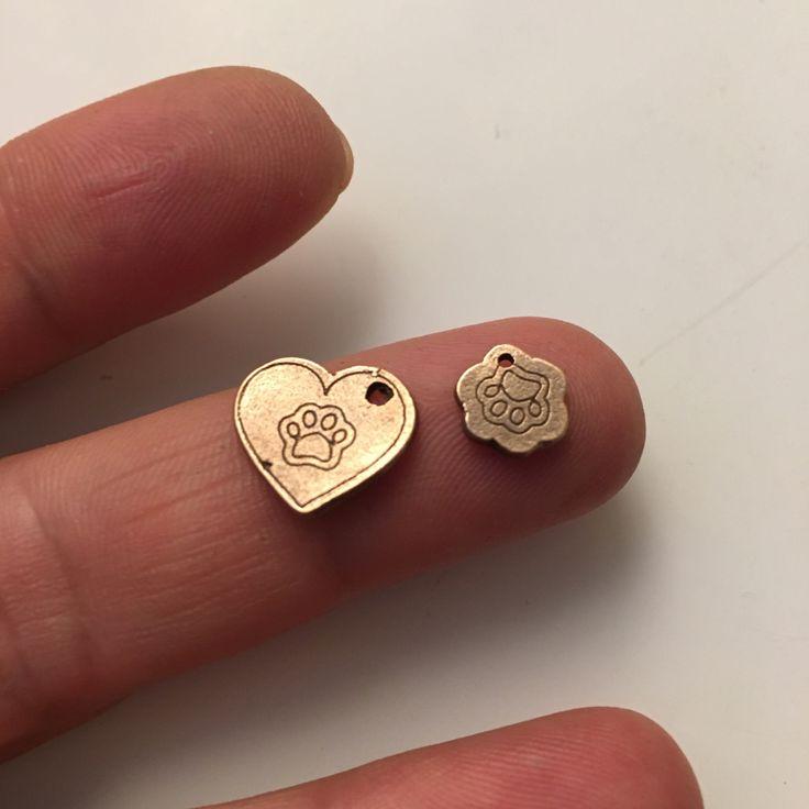 Love Pet. mini pendant. Metal clay bronze (Rojo Bronze, Zab's bronze)