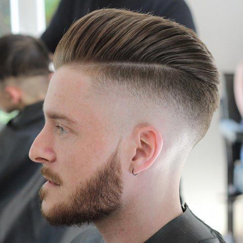 Streamlined Half Pompadour Hairstyle