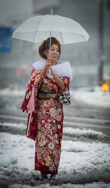 Coming of Age day under the snow in Tokyo by balbo42, via Flickr