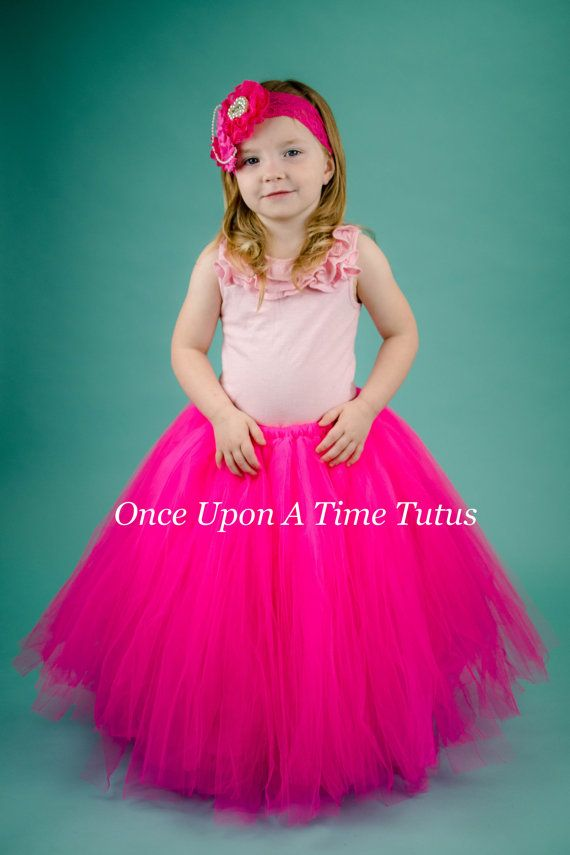 Check out this item in my Etsy shop https://www.etsy.com/listing/449956112/neon-pink-long-tutu-skirt-little-girl