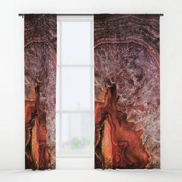 Copper Brown Agate Mineral Gemstone Geode Window Curtains