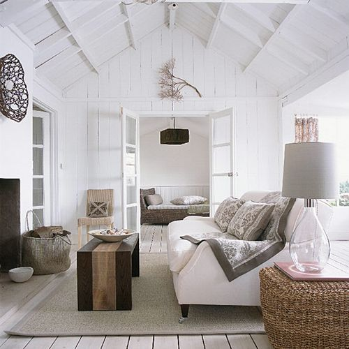 airy beach living room