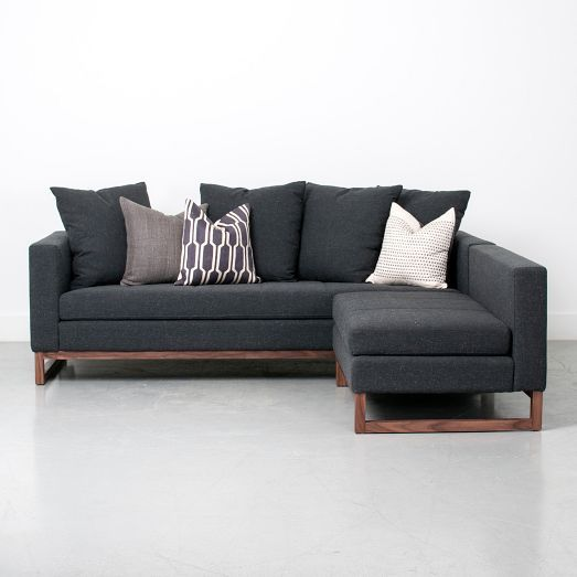 Perfect for renters or frequest movers! The Toss-Back Flip Sectional easily changes from a left or right chaise | west elm
