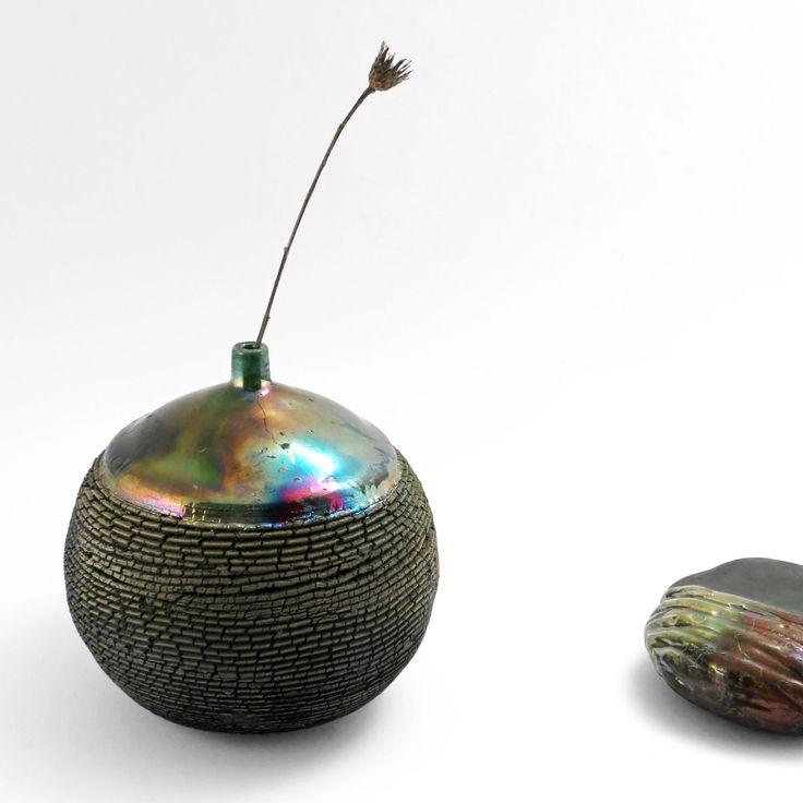 Winter Solstice: Whispering Globe - Ildikó Károlyi #ceramics #raku #design
