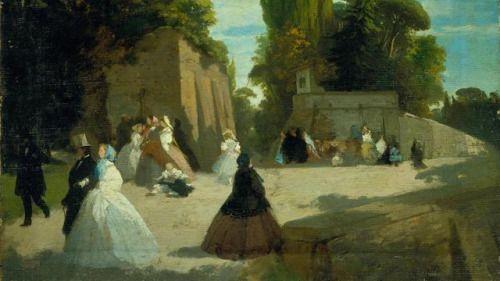 Antonio Puccinelli, La passegiata del Muro Torto, 1852