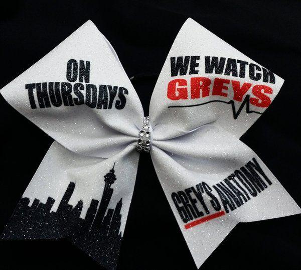 On Thursdays We Watch Greys Anatomy Cheer Bow